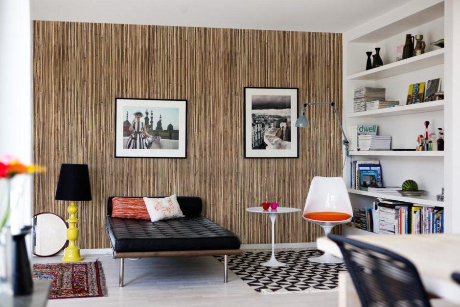 Бамбуковые обои в интерьере комнат