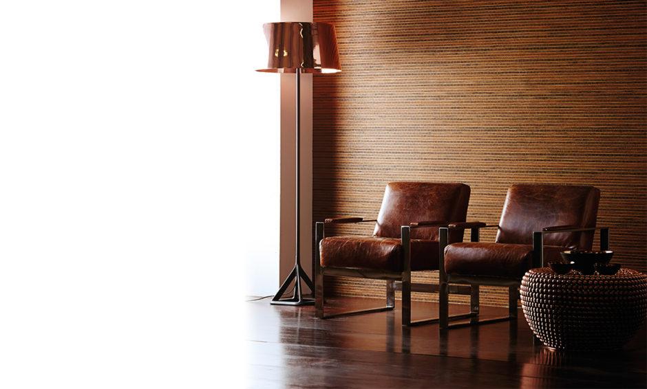 Бамбуковые обои в отделке кабинета