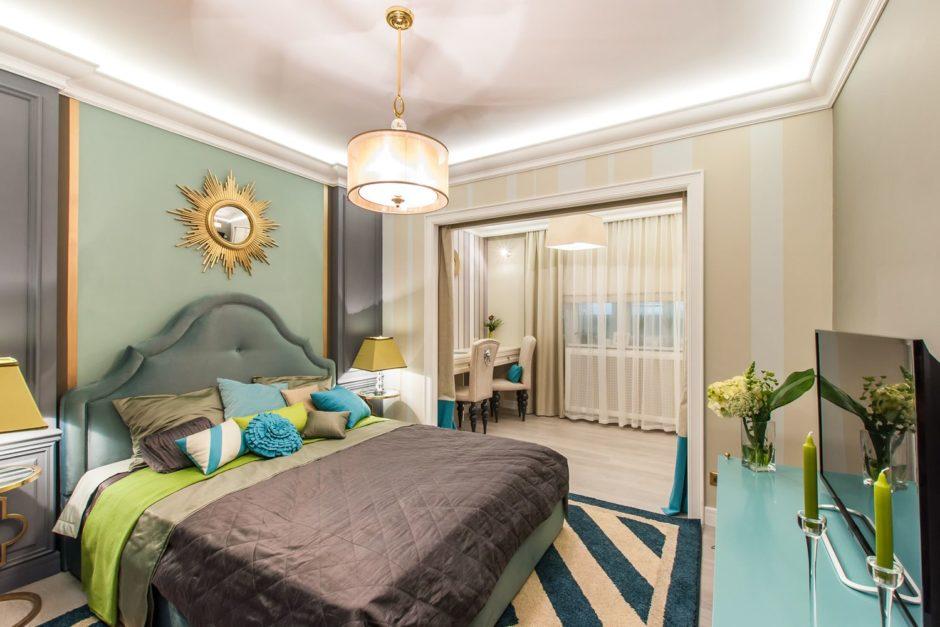 Идеи для спальни объеденной с балконом