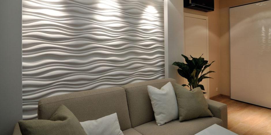 Стеновые панели в интерьере офиса 3D