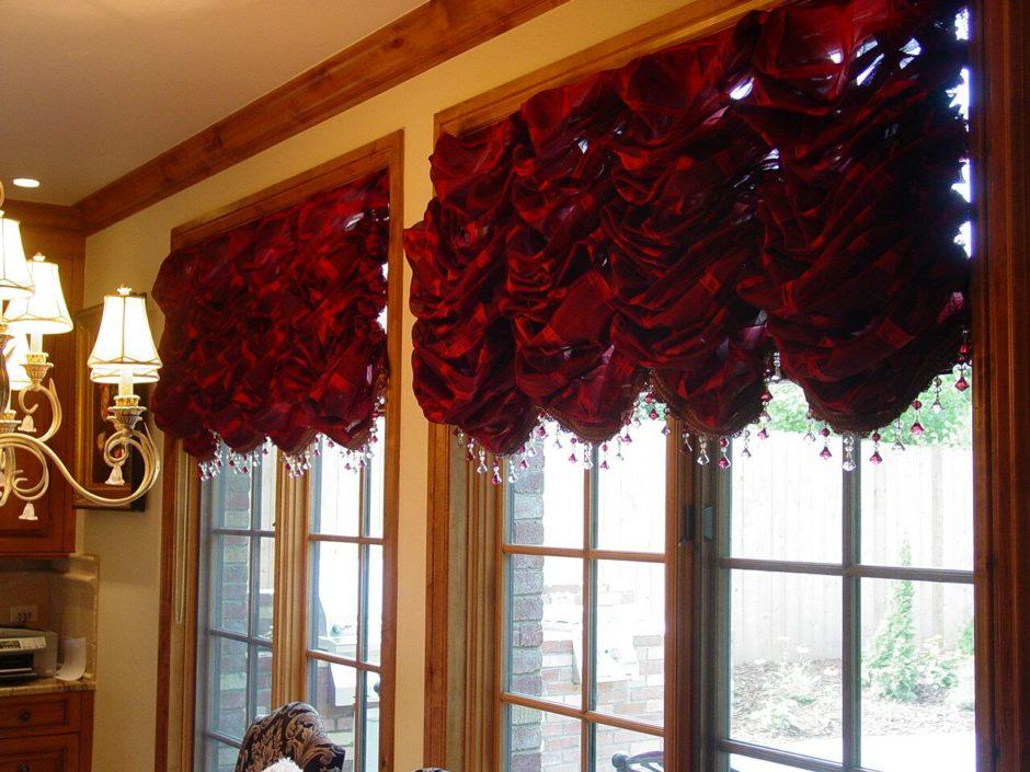 Французские шторы из бархата