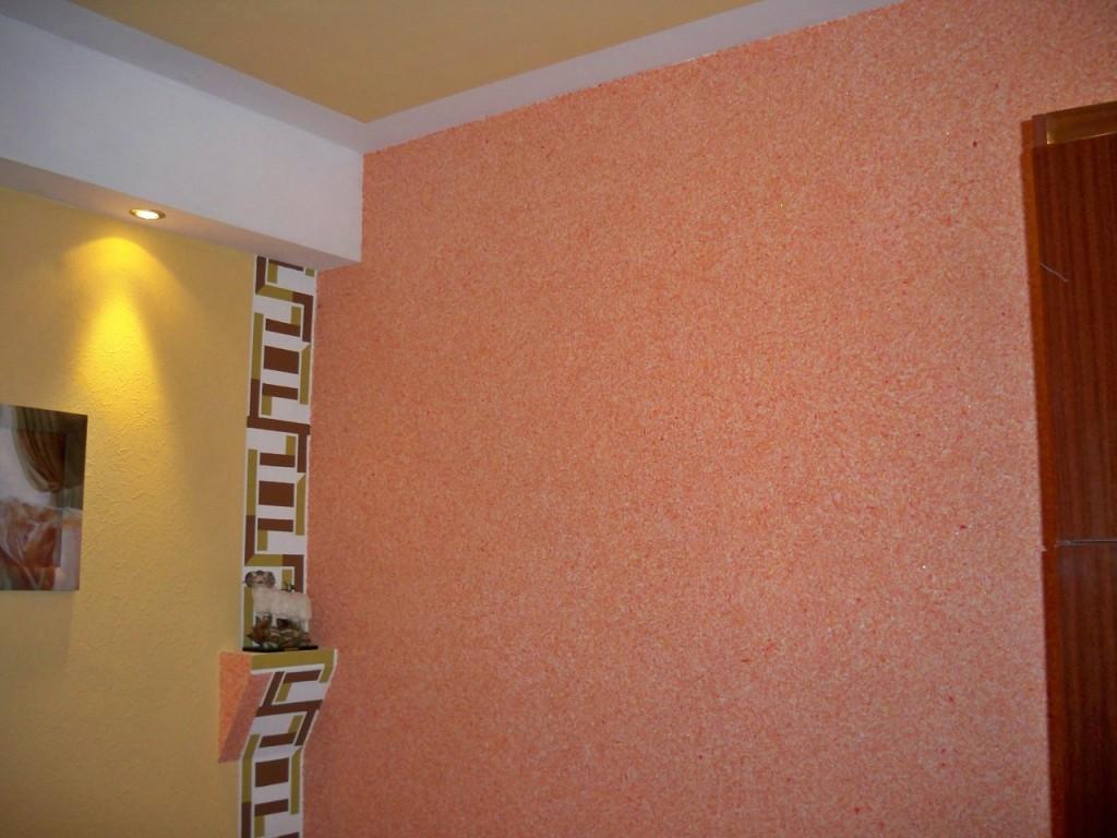 Фото дизайна стен из жидких обоев