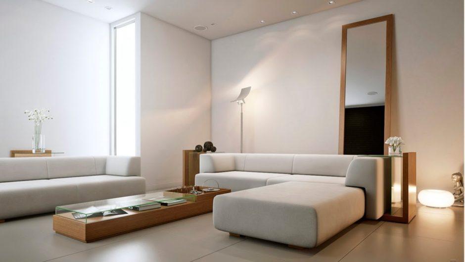 Стены в минималистическом интерьере