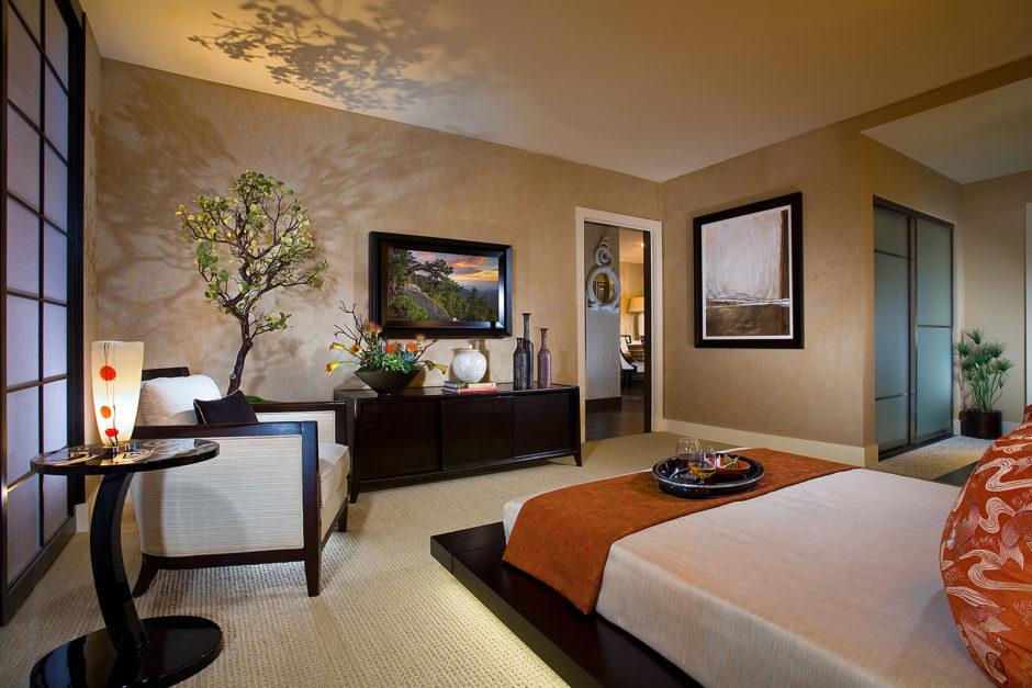 Бонсай в спальне. Японский стиль