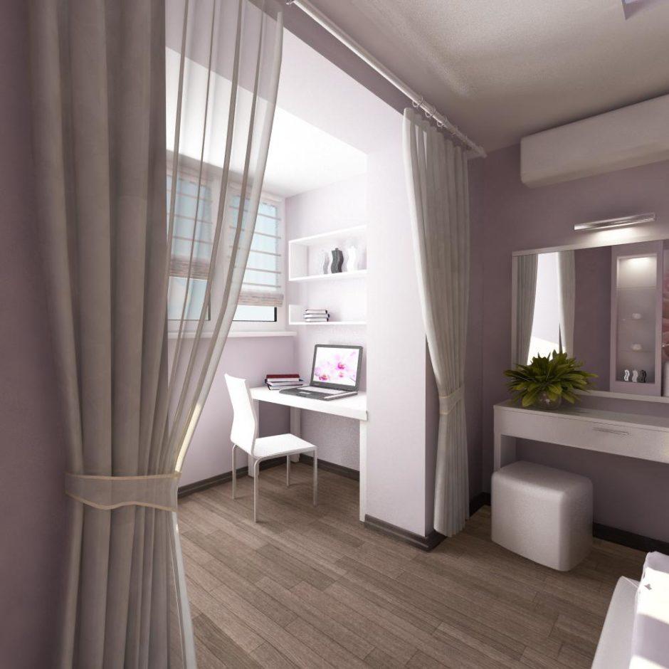 Популярные стилистические решения. Балкон объединенный с комнатой