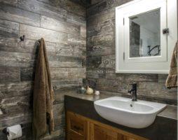 Вагонка в интерьере ванной