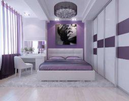 Оформляем супружескую спальню в лиловом цвете