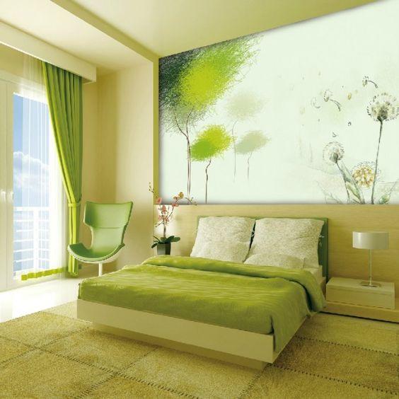 салатовый цвет спальни
