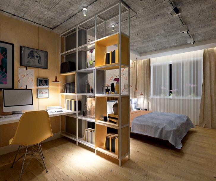 перегородки в интерьере спальни