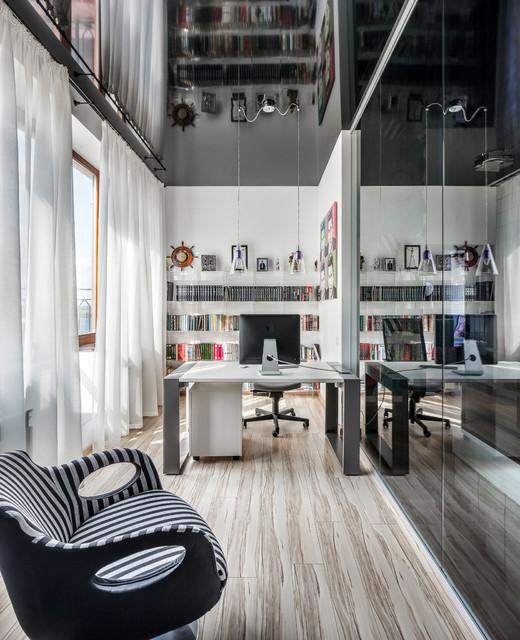потолок в стиле хай тек