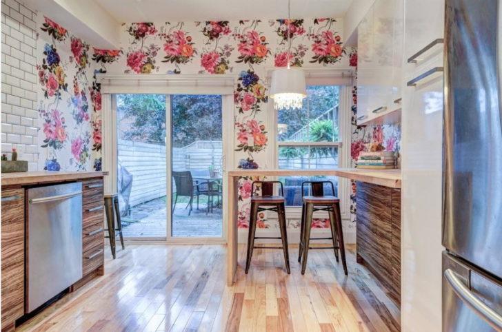 оформление стен в стиле прованс на кухне