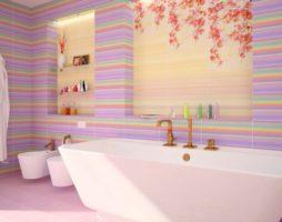 Панно в интерьере ванной комнаты