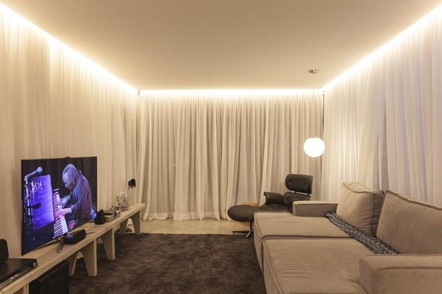 правильная подсветка потолка