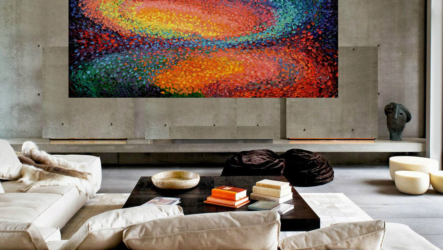 Дизайн комнаты с использованием картин на холсте